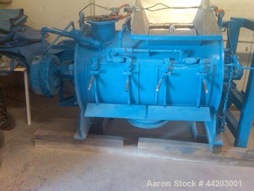 Used-Littleford Plow Mixer, stainless steel, 21.0 cubic foot total capacity (600 liters), 25 hp main motor, (2) 15 hp high s...