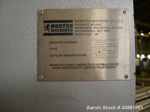 Used- Lodige FKM 2000 D 32F Plow Mixer