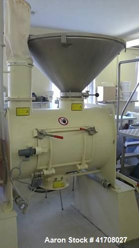 Used-Lodige FKM 300 D Ploughshare Mixer with Cutter Head.  Useful capacity 10.6 cubic feet (210 liters).  Main motor 10 hp (...