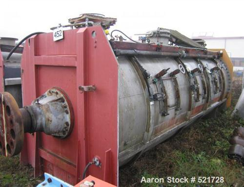 USED: Lodige plow mixer, type FKM15000D-12ZF. Material of construction is stainless steel on product contact parts. Total ca...