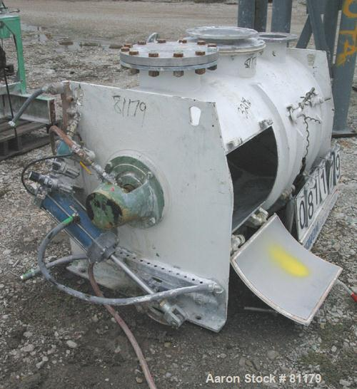 Used: Stainless Steel Lodige plow mixer, model FKM600D, batch type. 11 cubic foot working capacity