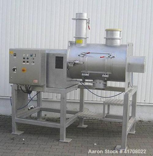 Used- Stainless Steel Lodige Type FM 130 Ploughshare Mixer for powder processing