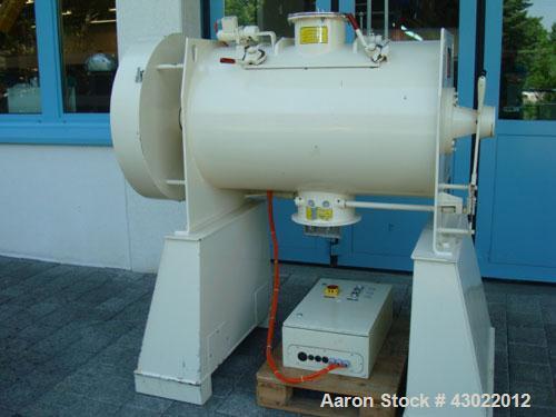 Used-Lodige FM 300D / 1FZ Ploughshare Mixer, maximum capacity 10.6 cubic feet (300 liters), net volume 55.4 gallons (210 lit...