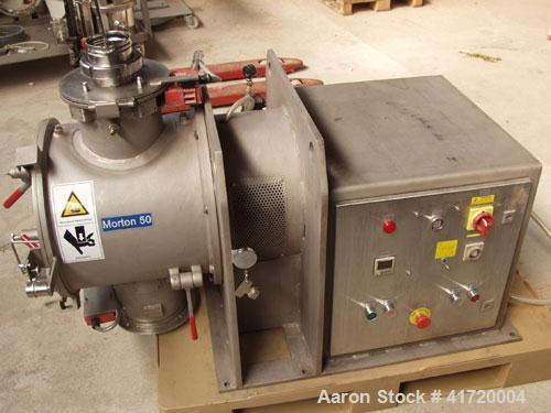 Used-Lodige Morton FM 50 Mixer, stainless steel, capacity 1.8 cubic feet (50 liter). Heatable double jacket, chopper, 80 psi...