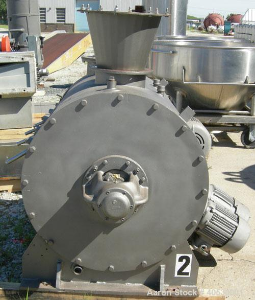 """Used- Lodige Plow Mixer, Model H600, 304 Stainless Steel. 11 Cubic feet working capacity, 21.2 total. 32"""" Diameter x approxi..."""