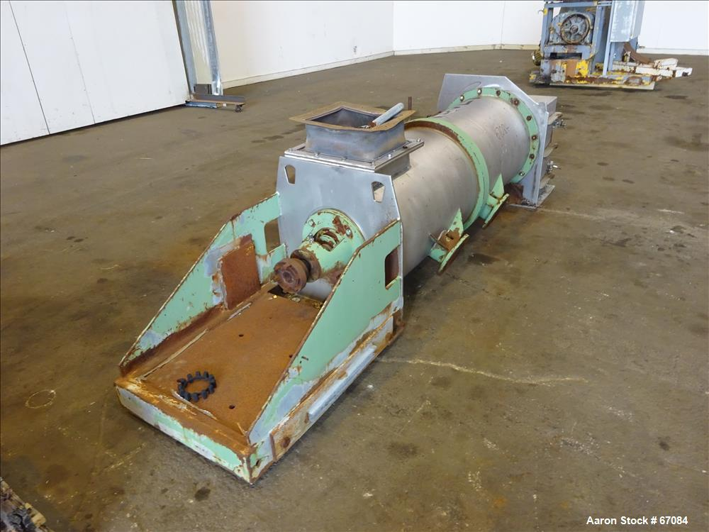 Used- Stainless Steel Lodige Continuous Plow Mixer, Type KM300