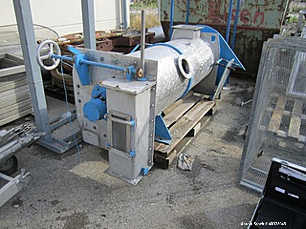 Used-Lodige KM300D Plow Mixer. Stainless steel construction, 10.6 cubic feet (300 litre) total capacity. Driven by a 20hp/15...