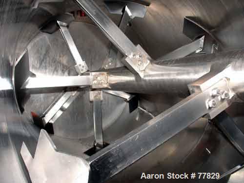 """Used- Lodige (Morton Machine) Plow Mixer, Model PB 10000. 353 Cubic foot working capacity (476 total). 73"""" Diameter x 197"""" l..."""