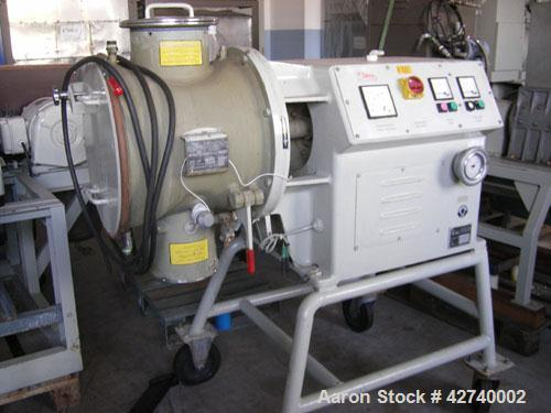 Used-Lodige SM-50-1-MZ Lab Size Plow Mixer, stainless steel on contact parts. Volume 1.76 (50 liters), double jacketed with ...