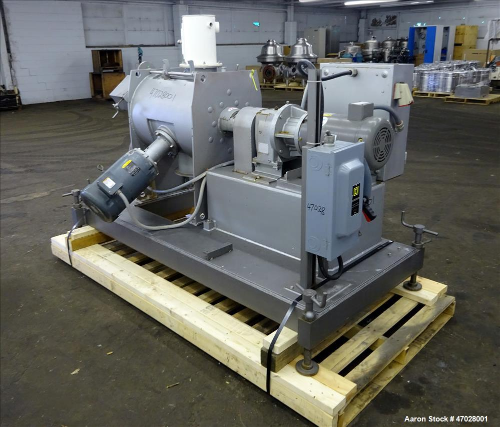 Used- Littleford Batch Type Plow Mixer, Approximate 3 Cubic Feet Working Capacit