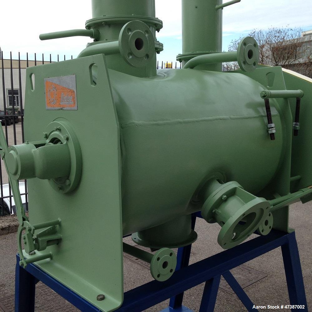 Used- Lodige Plow Mixer, stainless steel 316. Max capacity 79.28 gallons (300 liters). Max. pressure 0.5 bar. Max. temperatu...