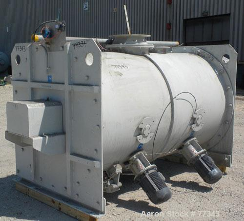 Used- Lodige Batch Type Plow Mixer, 304 Stainless Steel. Approximate 70 cubic foot working capacity (2000 liter), 82 total. ...