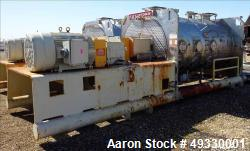 Used-Littleford Plow Mixer, Model KM6000D, 316L Stainless Steel. 148 Cubic foot working capacity (212 Total). Internal rated...