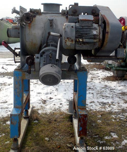 Used- Stainless Steel Morton Machine Company Plow Mixer, Model FM 130-D