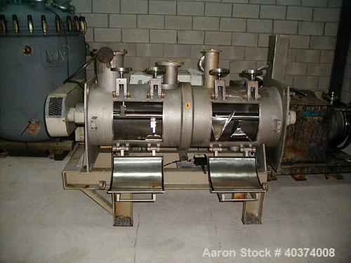 Used- Stainless Steel Morton Type KM300D Stainless Steel Continuous Ploughshare Power Blender