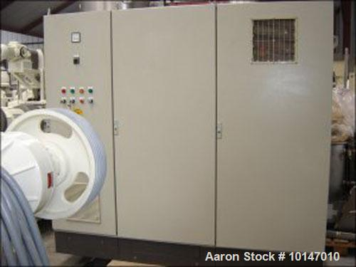 Used- Stainless Steel MTI-Mischtechnik Powder Turbo Mixer. T-arms, type H-3300 PH, 872 gallon