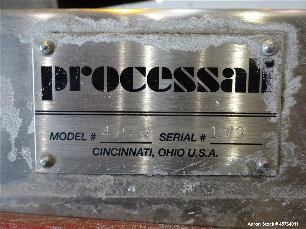 Used- Processall Mixer, Approximately .14 Cubic Feet