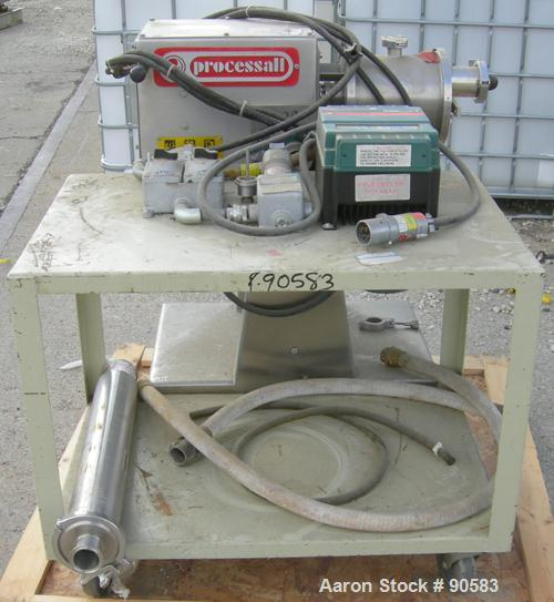 Used- Processall Tilt-A-Mix Lab Size Plow Mixer, Model 4 H/V, 304 stainless steel. 2 liter working capacity (.07 cubic feet)...