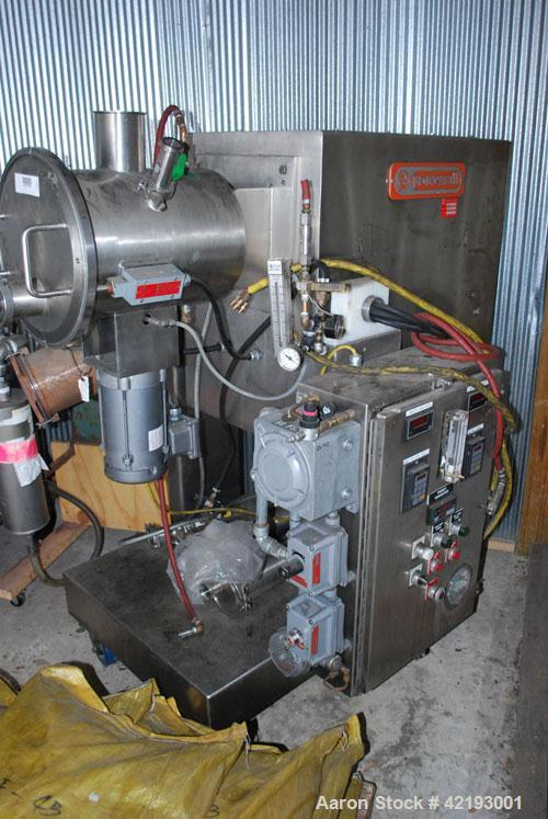 Used- Processall 20 Liter / 0.706 Cubic Foot Tilt-A-Mix, stainless steel, solvent recovery system / plow mixer, serial #074C...