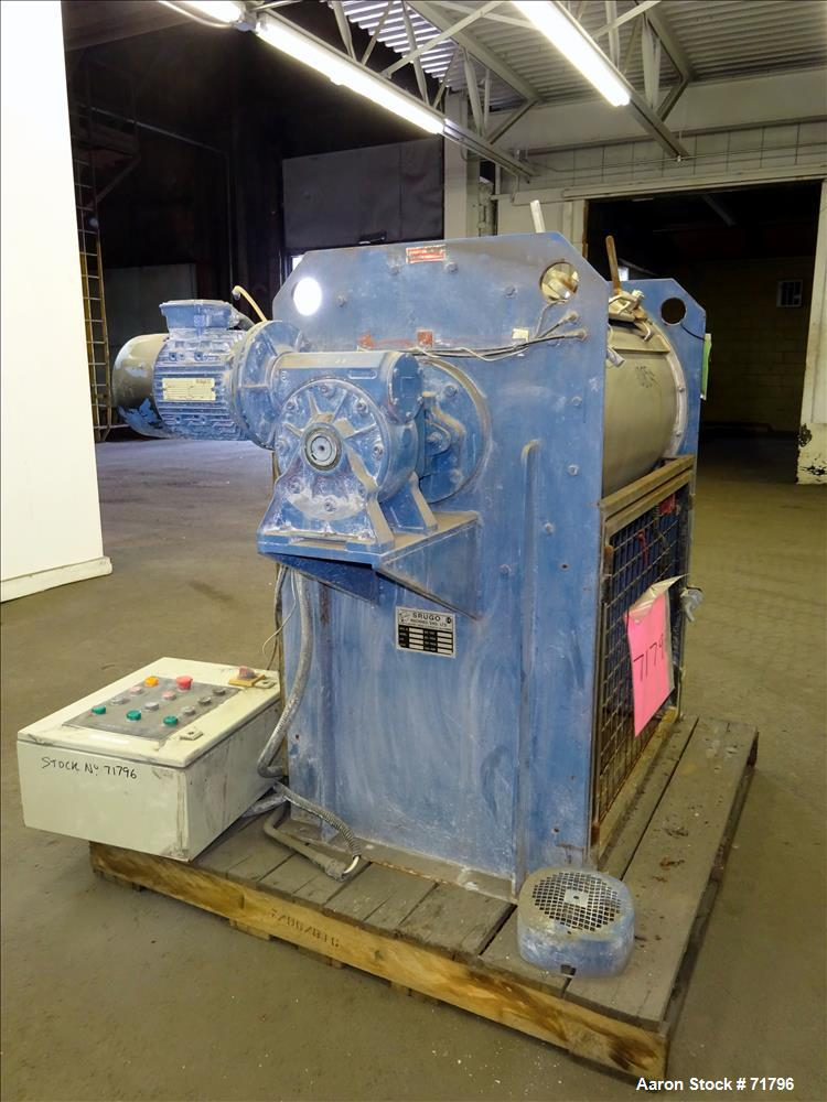 Used: Stainless Steel Srugo Machines Rapid Batch Plow Mixer, Model RB200