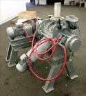 Used- Plow Mixer, 304 Stainless Steel, Non-Jacketed, approximately 0.64 Cubic Feet
