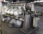 Used- Littlford Batch Type Plow Mixer, model FKM1200D, 304 stainless steel. 26 Cubic feet working capacity, 43.4 total. Jack...