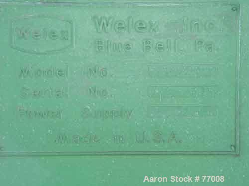 """USED: Welex cooler, model 1200, stainless steel, 26 cu ft, carbonsteel jacketed chamber, 30"""" diameter x 100"""" long, carbon st..."""