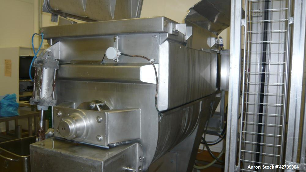 Used- Wolfking Plow Mixer.  Capacity 28,252 cubic feet (800 liters). Stainless steel.