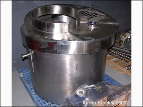"""USED: Pony Mixer Tank Only, 125 gallon, stainless steel. Approximately 38"""" diameter x 27"""" deep. Includes cover."""