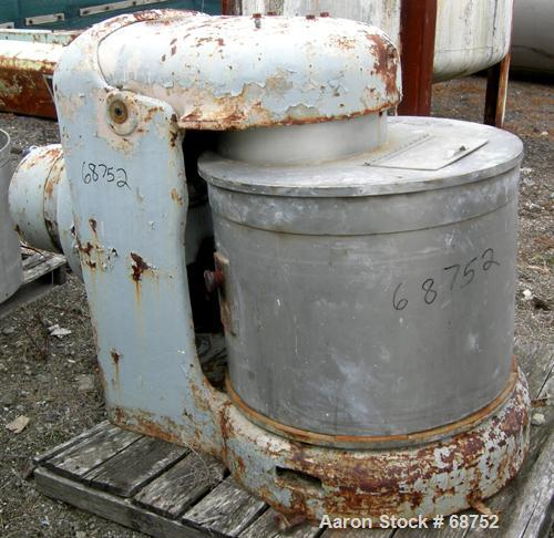 """USED:Day pony mixer size 3. Working capacity 50 gallon, total 53gallon. (3) 28"""" diameter x 20"""" deep non-jacketed 301 stainle..."""