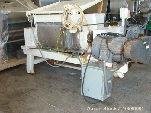 Used- Baker Perkins Paddle Mixer/Pug Mill
