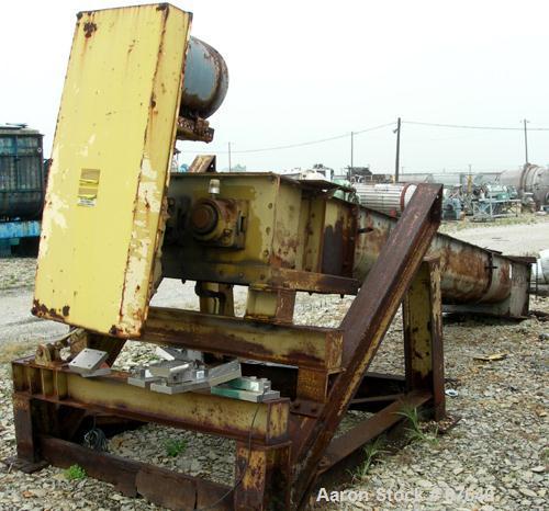 "Used- Davis Pug Mill, Inclined Screw Conveyor, Model S216, Carbon Steel. (2) 16"" Diameter x 13' long screws, 24"" x 33"" wide ..."