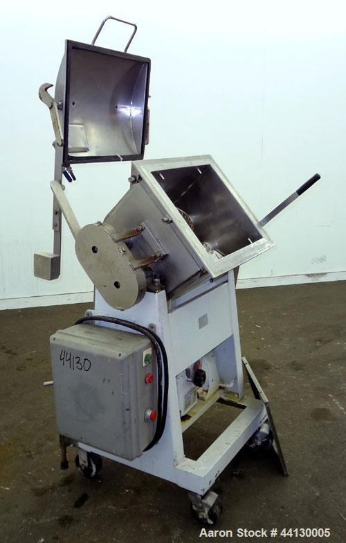 Used- Double Arm Mixer, 304 Stainless Steel, approximate 10 gallon working capacity