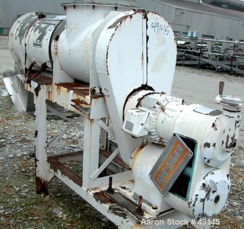 """USED: Sprout-Waldron """"Koppers"""" continuous mixer/pug mill, model 20X58, 304 stainless steel. 20"""" dia x 58"""" long horizontal ch..."""