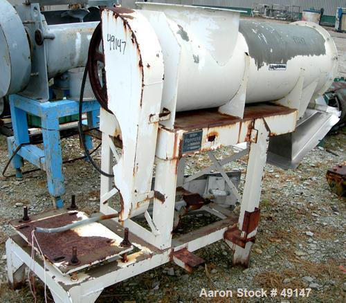 """USED: Sprout-Waldron """"Koppers"""" continuous mixer/pug mill, model 20X58, 304 stainless steel. 20"""" diameter x 58"""" long horizont..."""
