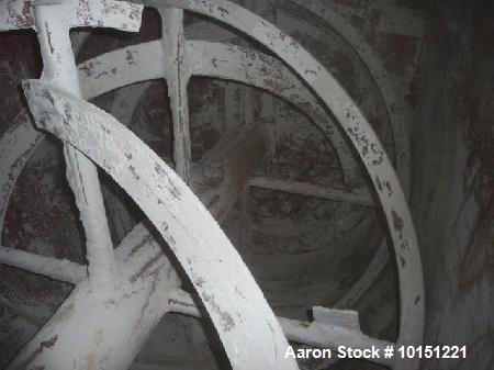 """Used- Double Ribbon Mixer. Approximately 360 cubic foot  driven by a 50 hp motor. Has 66"""" x 180"""" long x 67"""" deep chamber dir..."""