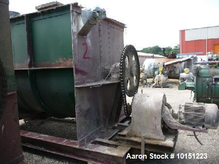 Used- Double Ribbon, Ribbon Blender. Approximately 320 cubic foot working capacity. Driven by a 30 hp chain drive, has non-j...