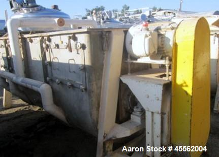 Used- Stainless Steel J & J Ribbon Blender, 100 Cubic Feet