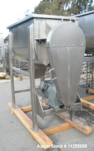 Unused- New Double Ribbon Mixer. 25 cubic foot working capacity, heavy duty model. Polished 304 stainless steel contacts, tr...