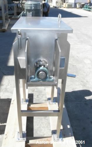 "Unused- New Double Ribbon Mixer. 2.5 cubic foot working capacity. Polished 304 stainless steel contacts, 26"" long x 14"" wide..."