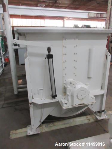 "Used- 150 Cubic Foot Stainless Steel Ribbon Blender. 1/2"" ribbon thickness, 40 hp ac motor (230/460) with heavy duty gearbox..."
