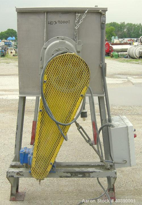 """Used- Double spiral ribbon blender, approximate 29 cubic feet working capacity, 304 stainless steel. Non-Jacketed trough 72""""..."""