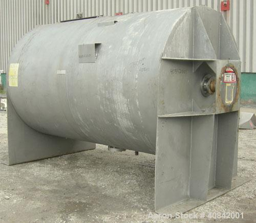 Used-American Process Ribbon Blender, model BMT. Cylindrical mixing chamber, stainless steel.  (No drive)