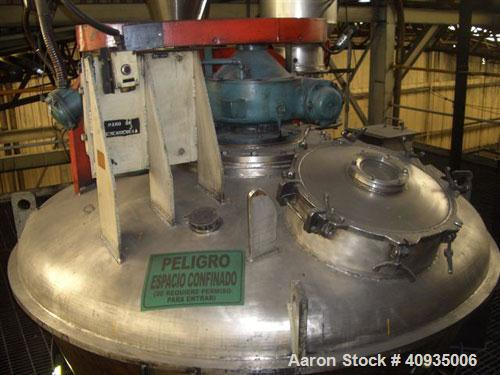 Used-Ribbon Blender, J H Day 131 Cubic Foot, Stainless Steel.