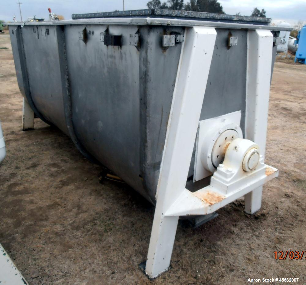 Used- Stainless Steel Ribbon Blender, Approximate 100 Cubic Feet