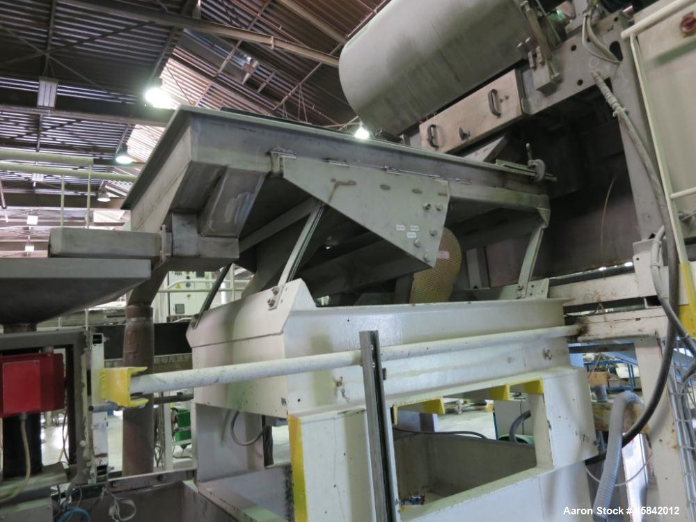 Used-Lancelin Ribbon Mixer, Stainless Steel, 70.6 cu ft (2000 liter), Non-Jacketed, Not Rated for Vacuum, End Discharge, Com...