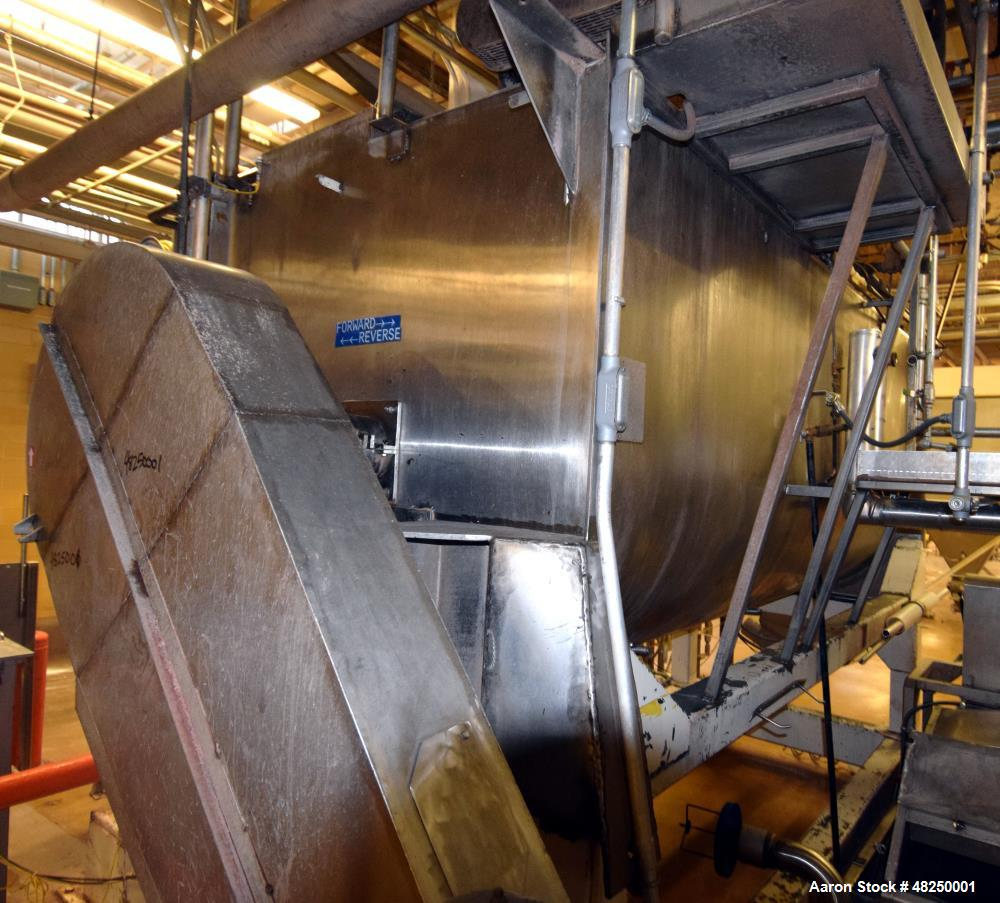 Used- Double Spiral Ribbon Blender, Stainless Steel.
