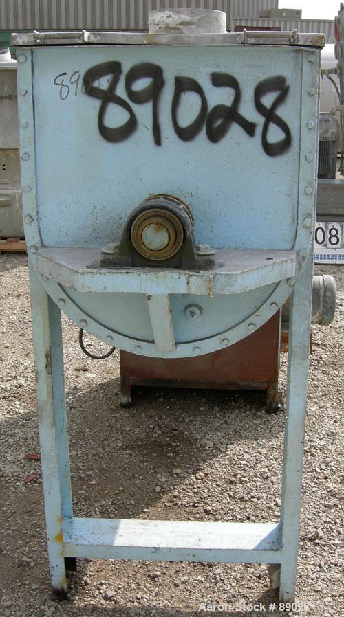 """USED: Ribbon Blender, 23 cubic feet working capacity, 304 stainless steel. Dimple jacketed trough 26"""" wide x 66"""" long x appr..."""