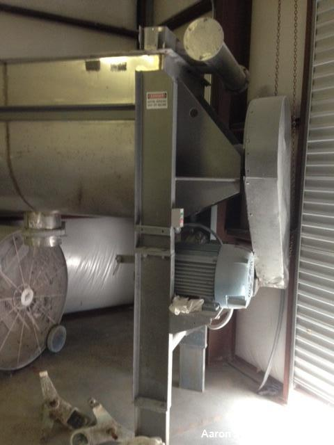 Used- Aaron Process 55 Cu ft stainless steel double ribbon blender. Has a 25HP 3/60/230/460V motor.