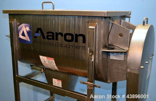 Used- Aaron Process IMB-15 Ribbon Blender, 15 cubic feet capacity. Constructed of stainless steel material on all product co...
